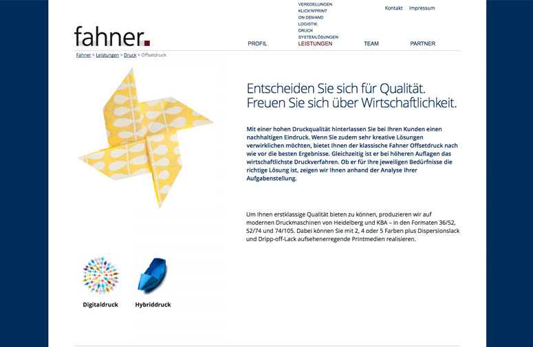 Fahner Website Offset