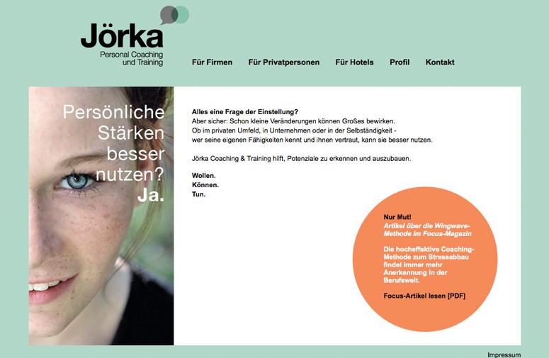 Jörka Website Home
