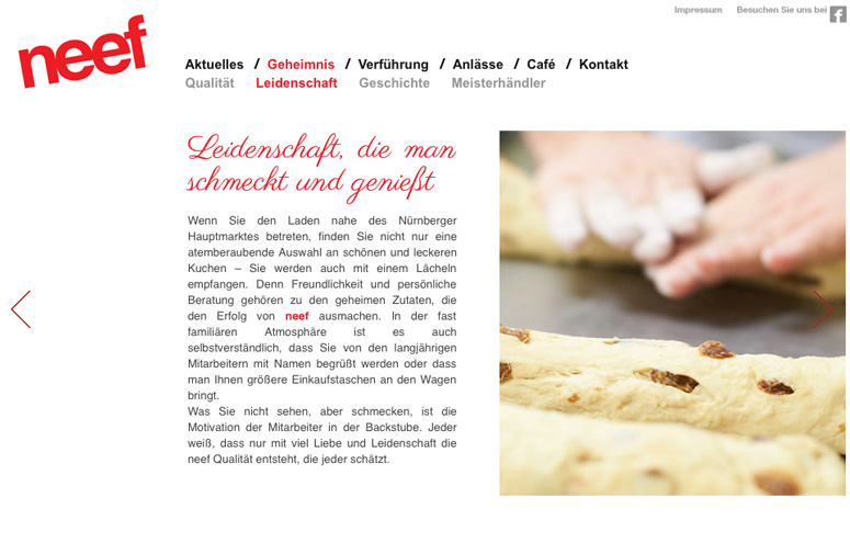 Neef Website Leidenschaft
