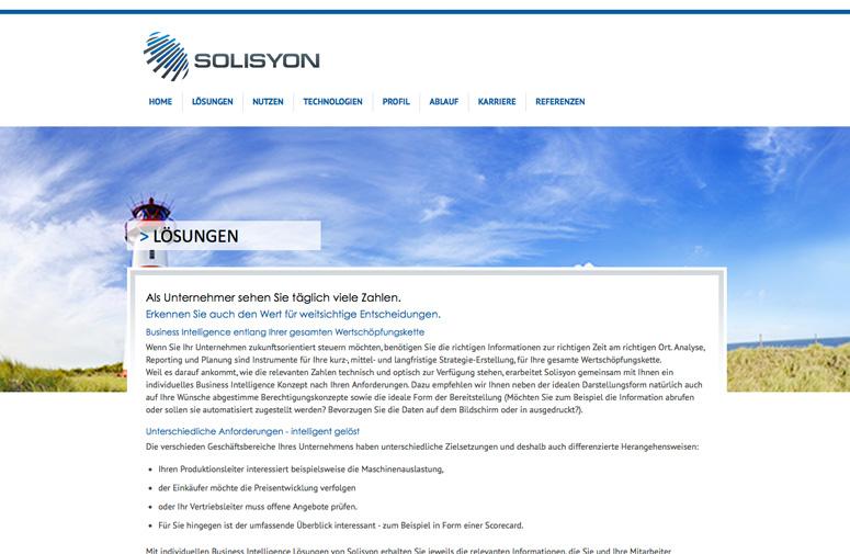 Solisyon Website Lösungen