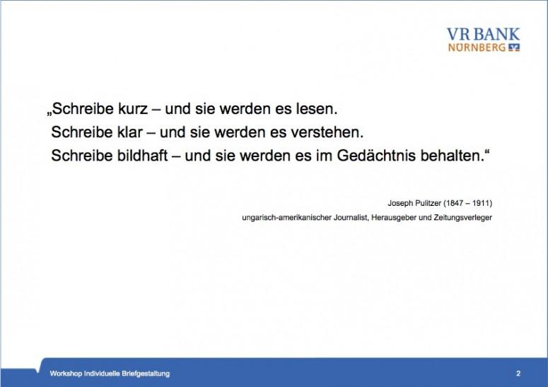 VR Bank Nürnberg Workshop 3
