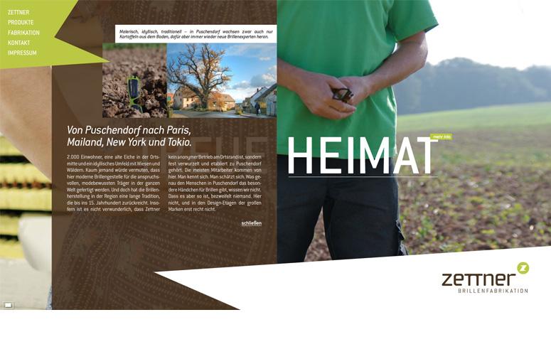 Zettner Website Heimat