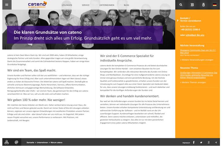 cateno Website Grundsätze
