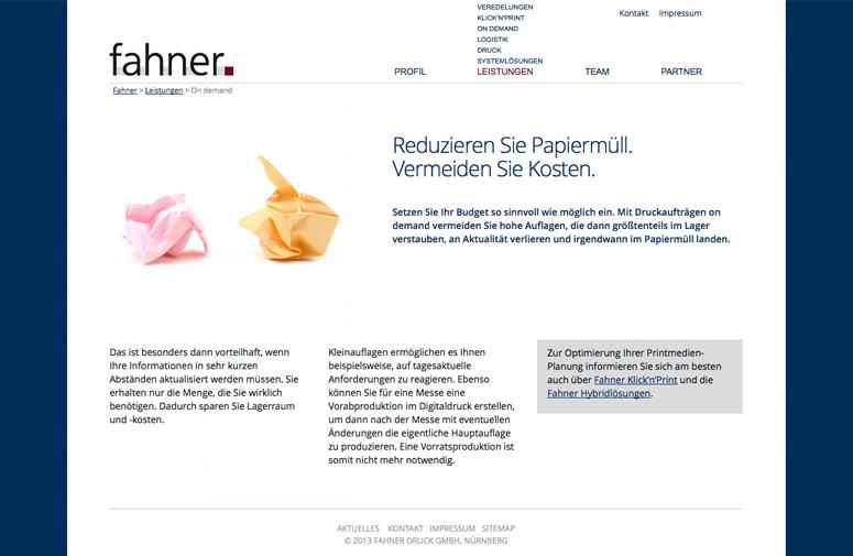 Fahner Website Nachhaltigkeit