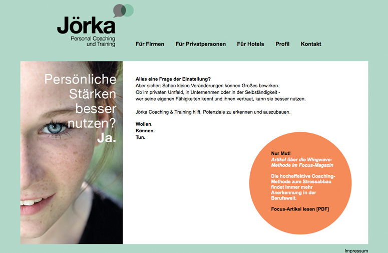 Jörka Website Home