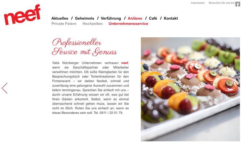 Neef Website Unternehmensservice