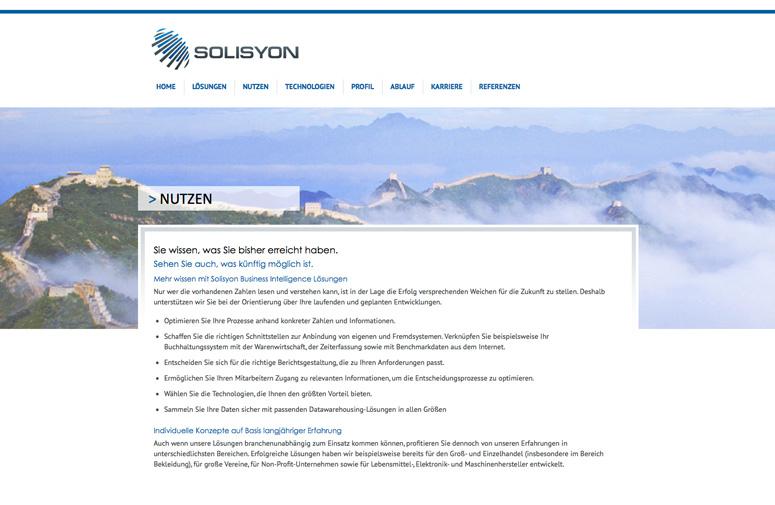 Solisyon Website Nutzen