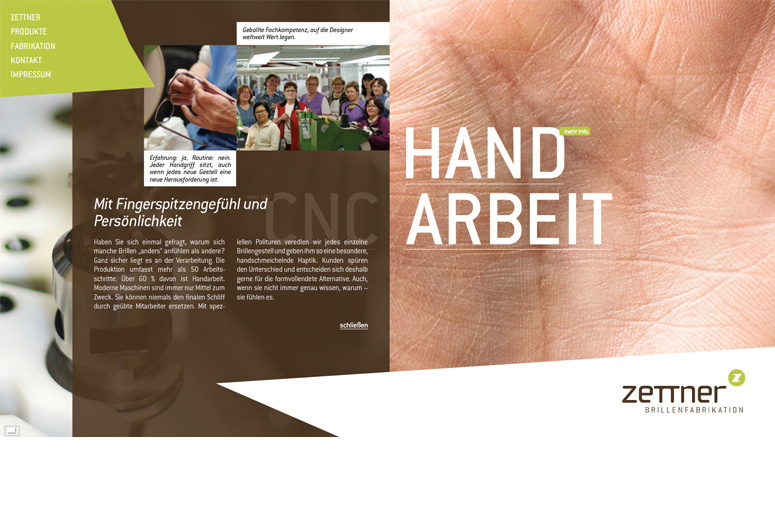Zettner Website Handarbeit